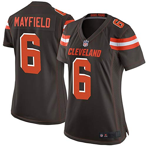 (#6 Baker Mayfield Cleveland Browns Women's Game Jersey - Brown L)