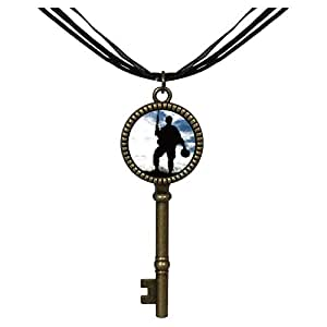 Chicforest Bronze Retro Style Memorial Day American soldier sky Jewelry Vintage Key Pendant