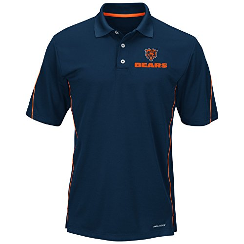 (NFL Chicago Bears Unisex Poly Fleece Track Jacket, Navy, X-Large Tall)