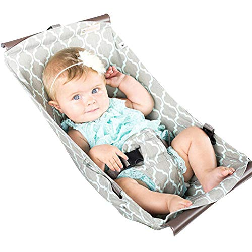 Olpchee Portable Baby Shopping Cart Hammock Bed Grocery Cart Cover for 0-6 Months Babies Free Your Hands (Gray) by Olpchee