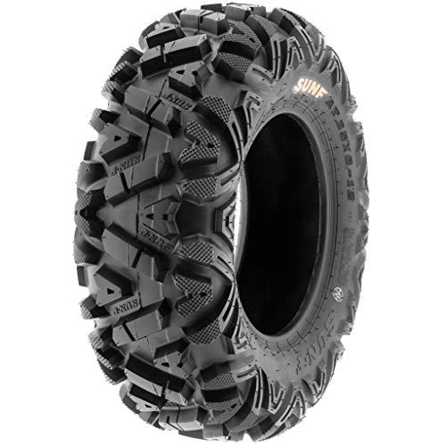 Set of 4 SunF Power.I AT 25x10-12 Front & 25x12-9 Rear ATV UTV all-terrain Tires, 6 PR, Tubeless A033 by SUNF (Image #6)