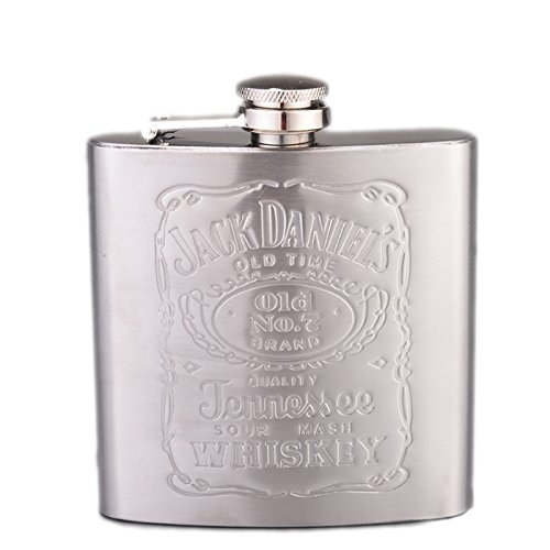 Funnytoday365 Johnnie Walker 6Oz Stainless Steel Hip Flask Drinkware Whiskey Liquor Metal Flask Alcohol Flask Flagon Marmita Wiskey-2