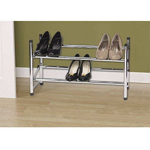 Household Essentials 2101 Expandable Two Tier Shoe Rack
