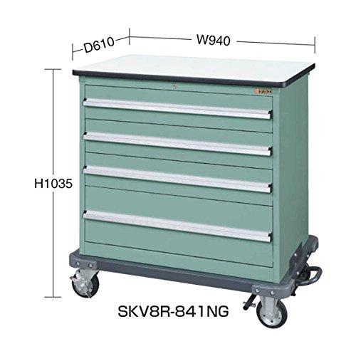 サカエ キャビネットワゴンSKVタイプ SKV8-R841NG B06W9JJVW6