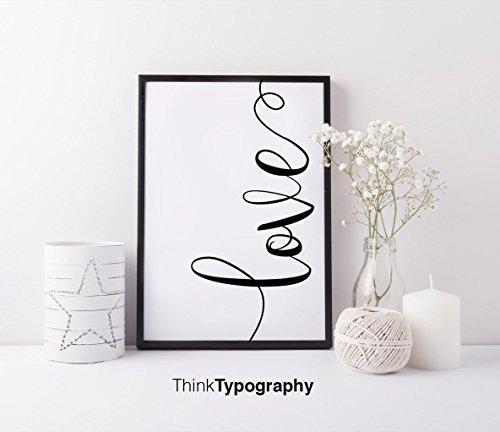 Love, yoga, office decor, bedroom decor, wall art, Motivational, quote, art print, Scandinavian, nursery decor, home decor, bridesmaid gift