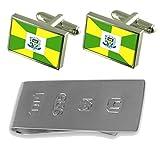 Ourinhos City Sao Paulo State Flag Cufflinks & James Bond Money Clip