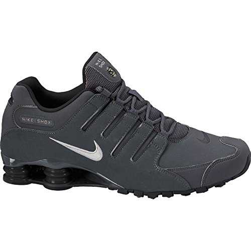 Nike  378341-059  Shox NZ Mens Sneakers NIKEDRK Gry MTLC IRN OR-Anthrct-BL 396afc10c