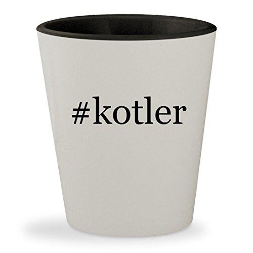 #kotler - Hashtag White Outer & Black Inner Ceramic 1.5oz Shot Glass