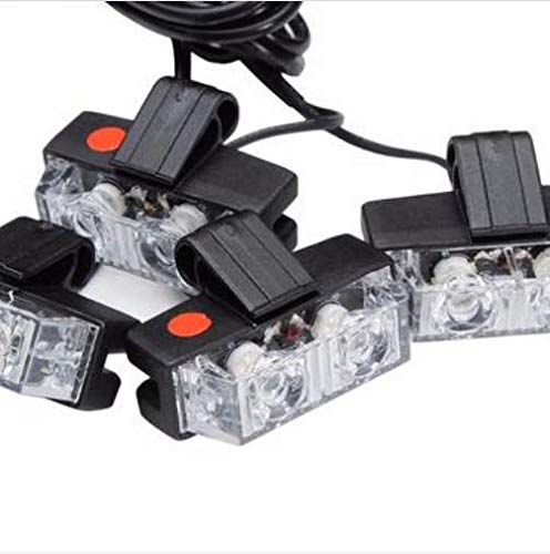 YONGYAO 8X2 Car Led Strobe Light White Blue Red Fireman Flashing Police Emergency Caution Warning Light Dc 1