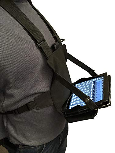 Gig Gear Two Hand Touch Tablet Chest Harness for 12.9 Devices. Compatible with iPad/Galaxy/Surface - Rugged, Heavy Duty, Durable Case