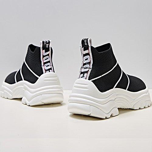 Elastic Socks Stivali Scarpe Bianca Moda Donna Shoes New Sportive Qqwweerrtt High Female q4F7FUx