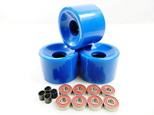たくさん可能句Big Boy 76mm Blank Pro Longboard Skateboard Cruiser Wheels (Blue) + ABEC 7 Bearings + Spacers by Big Boy