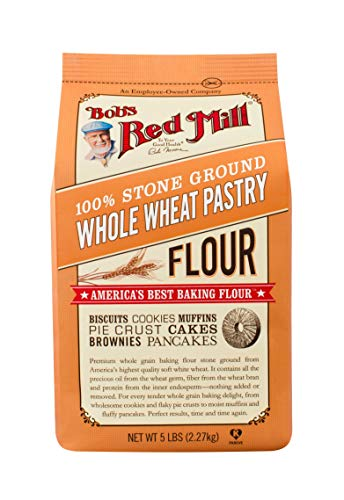Bob's Red Mill Flour Whole Wheat Pastry, 5-pounds (Pack of4)