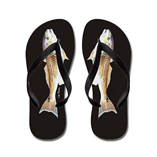 CafePress Red Drum - Flip Flops, Funny Thong Sandals, Beach Sandals Black