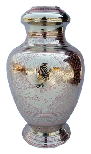 Sigma Marine International Wings of Freedom Brass Cremation Urn for Human Ashes - Affordable Funeral Urn Adult Urn for Ashes Handcrafted Urn (Sigma Wing)