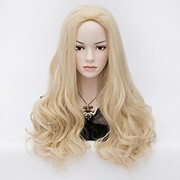 hjlhyl-colore affascinante Signora rubia onda natural pelucas pelo Bella pelucas sintéticas del pelo,