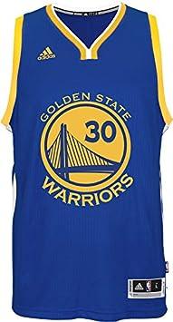adidas NBA Golden State Warriors International Swingman Jersey #30 Stephen Curry, Blue/Yellow A45910