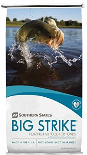 Floating Food Fish (Southern States Big Strike Floating Fish Food 40 Pounds)