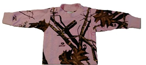 Pink Mossy Oak Camo Infant / Toddler Long Sleeve Tee Shirt #T21PMC (Newborn)