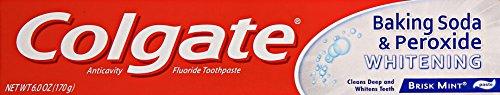 Colgate Baking Soda and Peroxide Whitening Toothpaste, 6 oz