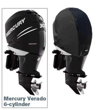 Oceansouth Custom Fit Storage Covers for Mercury Verado 6-cylinder Outboards