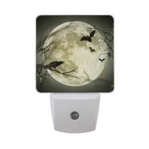 2 Pack Plug-in LED Night Light Halloween Bat