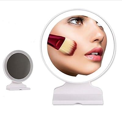 Led Makeup Vanity Mirror Light Hd Folding Mirror Simple Portable Desktop Single-sided Dressing Cosmetic Mirror Princess Folding