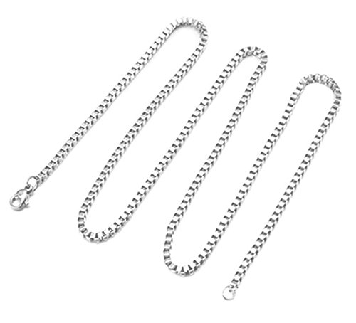Cutesmile Fashion Jewelry 925 Sterling Silver Italian 1mm/2mm Box Chain Crafted Necklace (20 Inches, 1 MM)