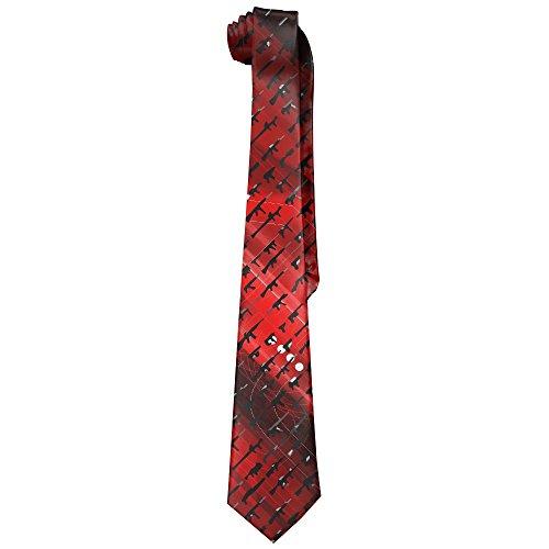 Rogue Status Gun (Egg Egg Men's Rogue Status Gun Show Novelty Necktie Tie Neck Tie)