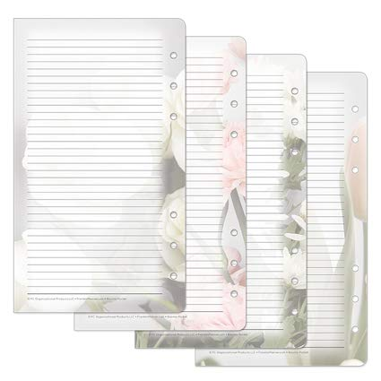 Pocket Blooms Lined Pages - Pink/Green (Franklin Covey Green)