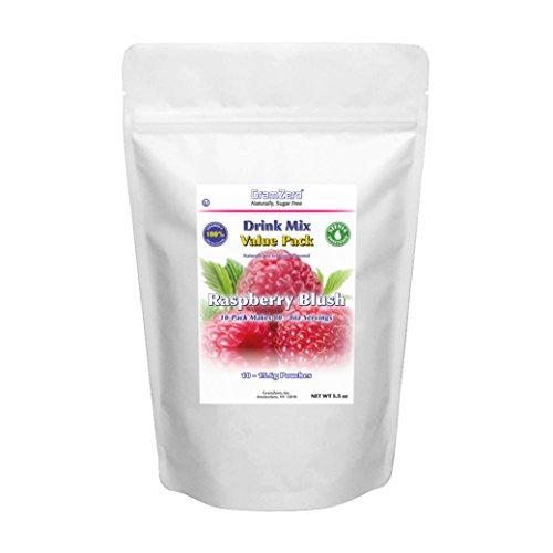 - GramZero Raspberry Drink Mix, 10/2 QT Yield (makes 80 - 8 oz servings), Stevia Sweetened, SUGAR FREE