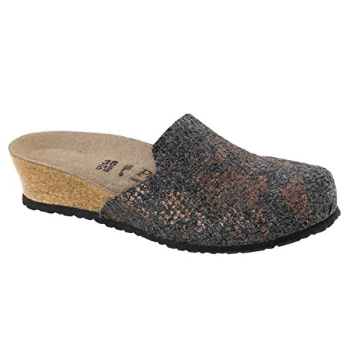 Schmal Shiny Felt Anthracite Lucy Papillio 1007075 Wollfilz Clogs wqCOwgA