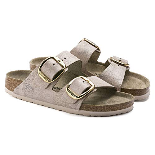 Birkenstock Arizona Big Buckle Womens Sandals 7 B(M) US Women / 5 D(M) US Washed Metallic Rose Gold