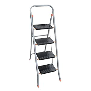 Escalera plegable de 4 pelda os segura antideslizante for Escaleras uso domestico