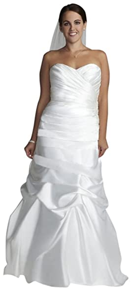 David\'s Bridal Sample: Sweetheart Charmeuse Gown with Pick-Up ...