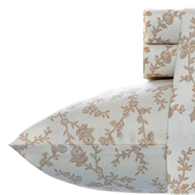 Laura Ashley Victoria Sheet Set, King, Taupe