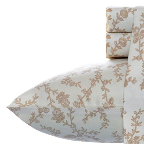 Discount Laura Ashley Victoria Sheet Set, Queen, Taupe hot sale Xv61T9DE