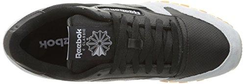 Reebok Mens Cl Läder Spp Mode Sneaker Svart / Moln Grå / Gummi