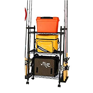 Fishing rod holder rack