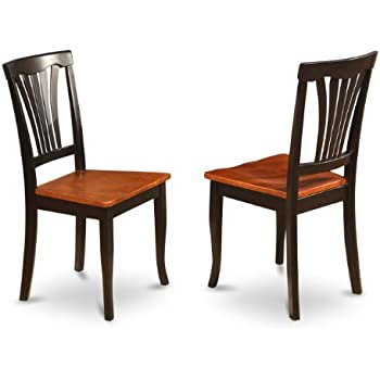 East West Furniture AVC BLK W Chair Set for Dining Room with Wood Seat   Black Cherry Finish  Set of 2. Amazon com   Boraam 31516 Farmhouse Chair  Black Cherry  Set of 2