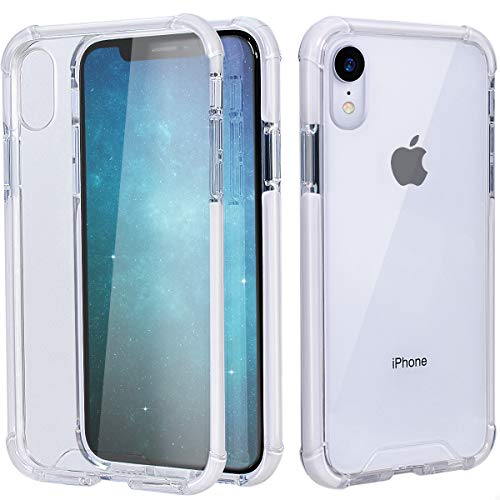MATEPROX iPhone XR Case Clear Anti-Yellow Heavy Duty Bumper Protective Shockproof Case for iPhone XR 6.1''(Clear White)