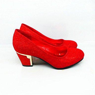 LvYuan-GGX Damen-High Heels-Lässig-PU-Blockabsatz-Fersenriemen- Ruby us5   eu35   uk3   cn34