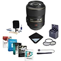 Nikon 105mm f/2.8G ED-IF AF-S VR Micro NIKKOR Lens Bundle w/62mm Filters & Pro Software