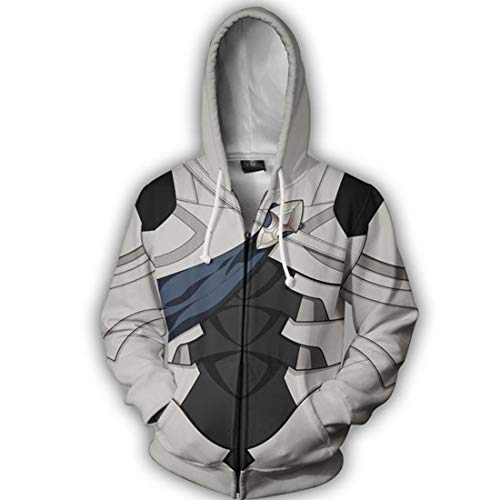 COSTHAT Fire Emblem If Heroes Fateful Prince Corrin Zip Up Hoodie Hooded Coat Jacket (Hoodie Emblem Fire)
