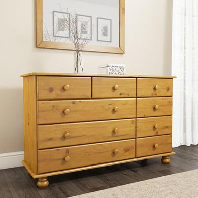 Hamilton 2+3+4 Wide Chest of Drawers in Pine