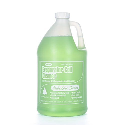 - ComStar 90-910 Valuline Self-rinsing Neutral pH Evaporator Coil Cleaner, 1 gal Container, Green