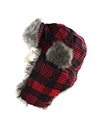 e03275a29b5 DOSOMI Men Bomber Hats Winter Trapper Hat Russian Hat with Faux Fur Outdoor  Sports Skiing Warm