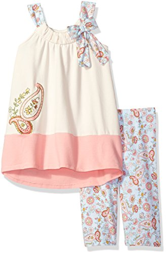 Bonnie Jean Toddler Girls' Appliqued Dress and Legging Set,Ivory,2T