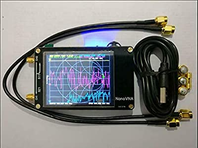 "HF VHF UHF UV VNA Vector Network Analyzer Antenna Analyzer + 2.8""LCD + Battery"