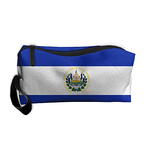 Salvador El Ladies (El Salvador Flag Pattern Makeup Bag Printing Girl Women Travel Portable Cosmetic Bag Sewing Kit Stationery Bags Feature Storage Pouch Bag Multi-function Bag)